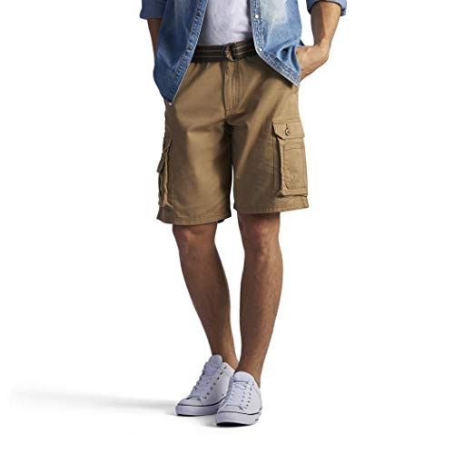 Lee Belted Shorts (LEE Men's Big & Tall Dungarees New Belted Wyoming Cargo Short - Mens Shorts)