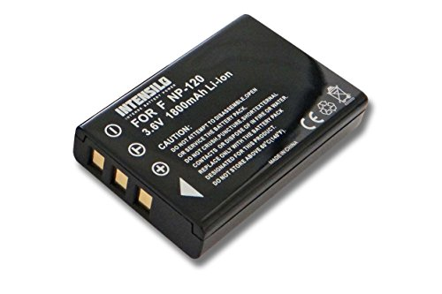 Batteria intensilo li-ion 1800mah (3.6v) per fotocamera videocamera toshiba camileo h30, x100, x100 hd sostituisce px1657, px1657e-1brs.