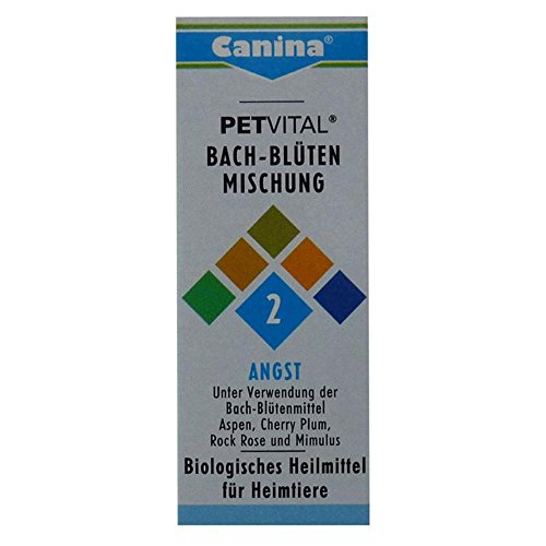 Canina Pharma Petvital Bachblüten Nr. 2 - Angst 2 x 10g