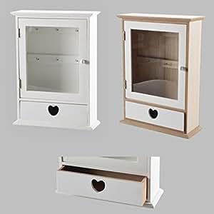 schl sselkasten schl sselhaken schl ssel wandkasten schl sselbrett haken herz wei natur wei. Black Bedroom Furniture Sets. Home Design Ideas
