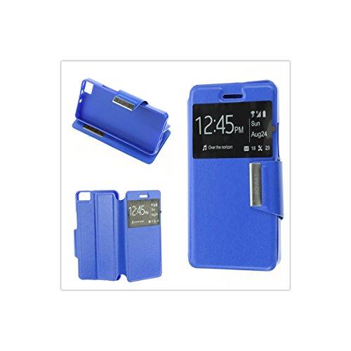 MISEMIYA - Schutzhülle Cover für BQ Aquaris A4.5 / BQ Aquaris M4.5 - Hüllen, Cover View Unterstützung, blau