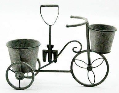 Minster - Macetero de Color Plomo para Bicicleta, Adorno de Jardín, Metal, 40 cm de Ancho, 5306