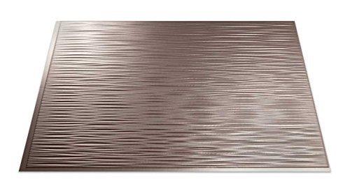 Fasade Easy Installation Backsplash 18inx24in Ripple Brushed Nickel Backsplash Panel for Kitchen and Bathrooms by Fasade (Na Backsplash)