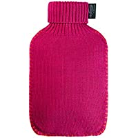 BFQY Warmer Wasserbeutel, PVC-explosionssichere Knit-Jacken-Heißwasser-Flasche, Mehrfarben (Farbe : Rose rot) preisvergleich bei billige-tabletten.eu