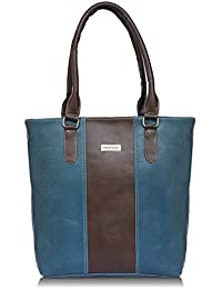 Fantosy Blue And Brown Women Shoulder Bag (blue And Brown) (FNb-795)