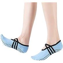 Fodlon Calcetines De Yoga, Apretones Antideslizantes Y Calcetines De Correa Ideal Para Mujeres Pilates,