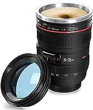 Camera Lens Coffee Mug,Camera Lens Mug,Stainless Steel Thermos, Sealed & Retractable Lids! Photographer Ca