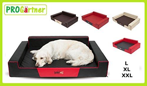 Hobbydog XXLGLABRA2 Hundebett / Sofa / Korb Glamour Kunstleder, Kodura, braun, XXL, 120 x 80 x 28 cm - 6
