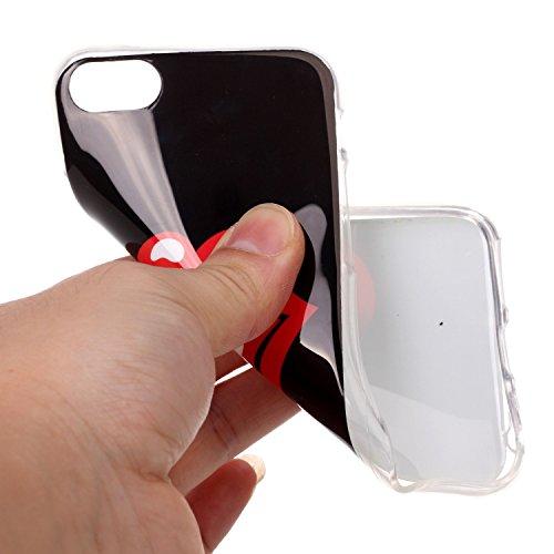 Pour Apple iPhone 7 4.7 Coque,Ecoway Housse étui en TPU Silicone Shell Housse Coque étui Case Cover Cuir Etui Housse de Protection Coque Étui –YH-18 YH-10