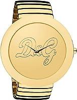Dolce & Gabbana D&G - Reloj analógico de cuarzo para mujer con correa de acero inoxidable, color dorado de Dolce & Gabbana