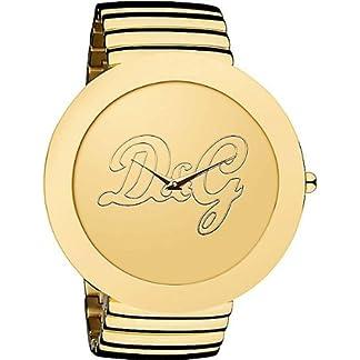Dolce & Gabbana D&G – Reloj analógico de Cuarzo para Mujer con Correa de Acero Inoxidable, Color Dorado