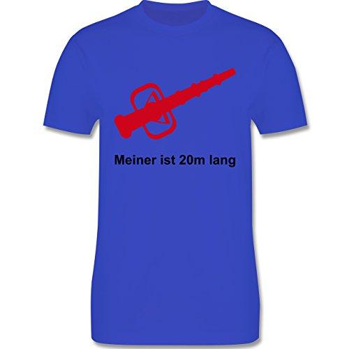 Feuerwehr - Meiner ist 20cm lang - Herren Premium T-Shirt Royalblau