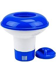 SODIAL Químico Dispensador Piscina Automático Sistema De Desinfeccion Piscina De Filtración Flotante sobre Ba?o De Natación