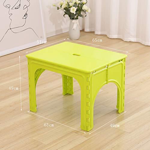 ZY Children's study table and chair Kinder Klapptisch Stühle, tragbare Kunststoff Schreibtisch für Kinder im Alter von 2-10, Kleinkind Kunststoff Aktivität Tisch, Esstisch, Spieltisch