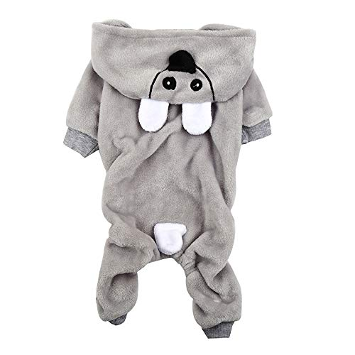 PZSSXDZW Neue Haustier vierbeinige Kleidung Welpen Hund vierbeinige Kleidung Herbst und Winter Modelle Teddy ()