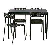 TARENDO / ADDE طاولة و 4 كراسي ، أسود