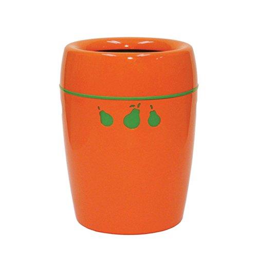 LIUFS Papelera Basura de lujo del hogar de la bolsa de basura ocultada 7.5L (Color : Naranja)