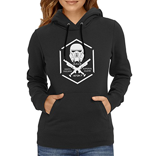 NERDO - Death Trooper - Damen Kapuzenpullover, Größe M, (Wars Imperial Kostüme Star Guard)
