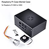 MakerHawk Raspberry Pi Case Mental Case with Cooling Fan and Power Control Switch for RPi X820 or X800 SSD/HDD Storage 2.5-Inch SATA Hard Drive Expansion Board