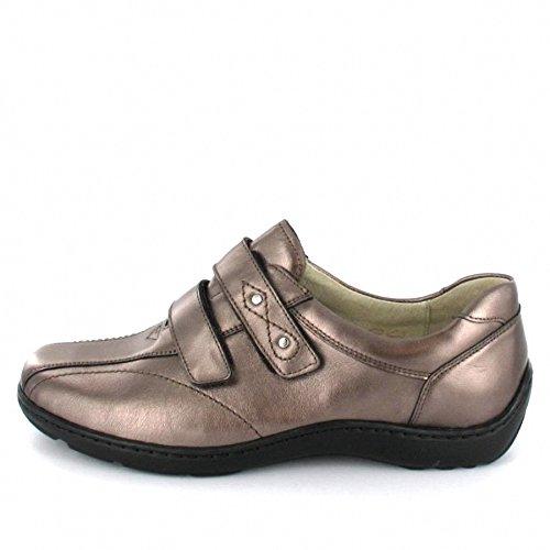 WALDLÄUFER 496301 101 Damen Slipper - Schuhe in H Weite Braun Metallic