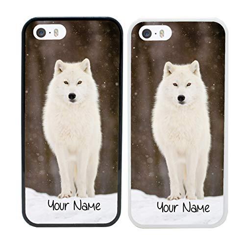 I-CHOOSE LIMITED Arktische Tiere Personalisierter Handyhülle für Apple iPhone 5 5s SE 5se Benutzerdefinierte Hülle Persönlich Dein Name Stoßstange (Iphone 5 Fällen, Tiere)