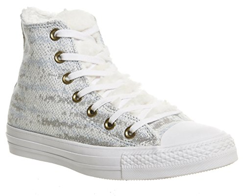 Converse, Hi-Top Turnschuhe für Erwachsene, unisex, M3310, Blau - Polar Blue Ash Grey Knit - Größe: 39 EU