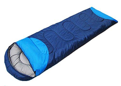 Honeystore Camping & Outdoor 190T Pongé Schlafsack-Deckenschlafsack (190+30)*75 CM Dunkelblau