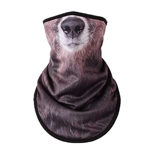 Maske 3D-Tier-Halbe Gesichts-Schal-Ansatz Gaiters Warmer Schal Für Motorrad Radfahren Skifahren Halloween-Party-Cosplay
