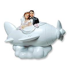 Idea Regalo - Salvadanaio a forma di Coppia di Sposi Sposi Matrimonio in lavatrice aereo Elica kasse 12x 16cm