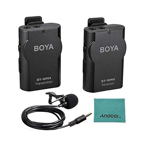 Boya BY-WM4 Microphone sans fil Lavalier avec écran en temps réel avec étui rigide pour appareil photo reflex numérique Canon Nikon Sony Cam... 12
