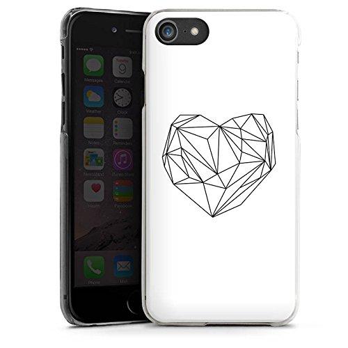Apple iPhone X Silikon Hülle Case Schutzhülle Herz Liebe Love Hard Case transparent