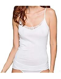 a417b260c1d75 MADIVA Débardeur épaule étroite Femme Coton Fil d Écosse Art Tris fabriqué  en Italie