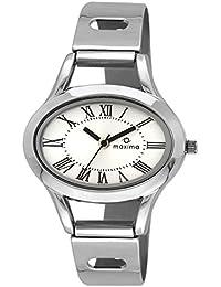Maxima Attivo Analog Silver Dial Women's Watch - 22168CMLI
