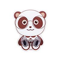 Coat Hooks For Wall, Animal Lovely Self Adhesive Stick Multi Utility Key Door Mop Cup Coat Hat Scarf Bags Towel Robe Hanger Wall Hooks For Home Kitchens Bathrooms Bedroom Closets Garden panda