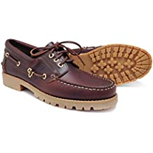 Pielsa 1109 Naútico Wintermoc - Naútico de piel color marrón y piso de goma para hombre