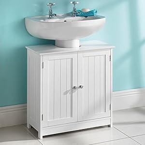 Saxony Armario de baño para Debajo del Lavabo, Madera, 60x30x60 cm