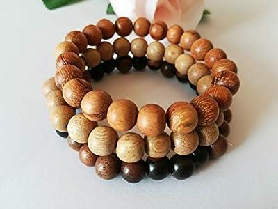 empilables bracelets, bracelets malas, bracelet bois santal, bracelets tibetains, bracelet meditation, cadeau noel unisexe, cadeau noel pas cher