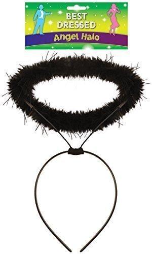 Imagen de halo ángel negro diadema novedad disfraz despedida de soltero despedida de soltera accesorio