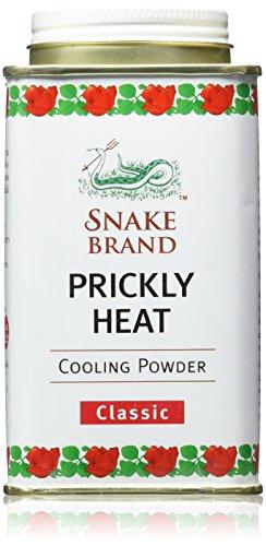 Snake Brand Prickly Heat Kühlpulver, 2er-Pack (Classic, 140g)