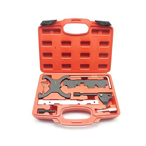NOBGP Kfz-Motor-Einstellwerkzeugsatz, hochfester Alu-Zahnriemen-Ersatznockenwellen-Einstellwerkzeugsatz Geeignet für eine breite Palette von Kfz-Modellen