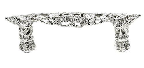 Carpe Diem Hardware 147-24CAB Juliane Grace mit 7,6 cm O.C. Pull Made with Swarovski Crystals Platinum Platinum Crystal