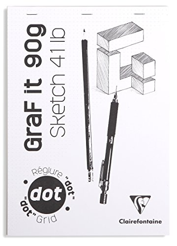 "Clairefontaine 96691C Skizzenblock ""Graf it"", DIN A4, 90g, 80 Blatt Weiß"