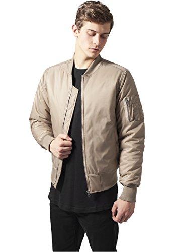 Urban Classics Basic Bomber Jacket, Giacca Uomo beige
