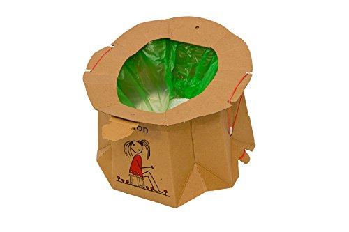 Hippychick Tron usa e getta da viaggio potty-riciclata-12PC confezione