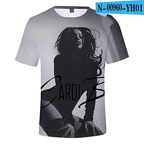 XMDNYE Camiseta de Verano para Mujer Camiseta B de Verano para Mujer/Hombres Ropa de Hombre más vendida Popular 3D Ocasional Camiseta