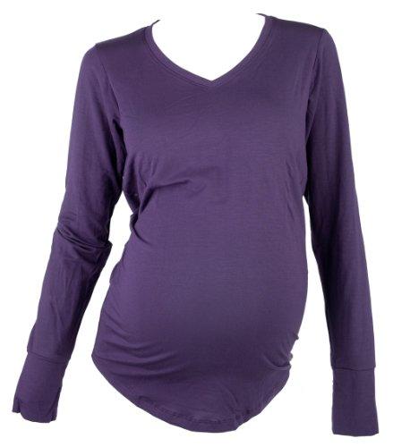 Mountain Mama Damen Whitney Long Sleeve Eco Schwangerschafts-T-Shirt Lupine