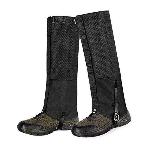 Unigear Outdoor Gamaschen,wasserdichte Atmungsaktive Bein Gamaschen für zum Wandern, Klettern und Schneewandern Jagd 1 Paar (Schwarz M)