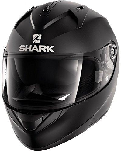 Shark, casco da motociclista Hark Ridill Blank Mat, di colore nero, taglia L