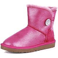 Ladies snow boots/Stivali di pelliccia di pecora/Stivaletti/ tubo basso stivali/Stivali antiscivolo del tendine alla fine (Classic Short Pelle Di Pecora)