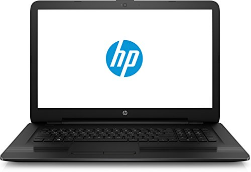 HP 17-x500ng (1LZ36EA) 43,9 cm (17,3 Zoll / HD+) Laptop (Intel Celeron N3060, 4 GB RAM, 1 TB HDD, Intel HD-Grafikkarte 400, DVD Writer, Windows 10 Home) schwarz
